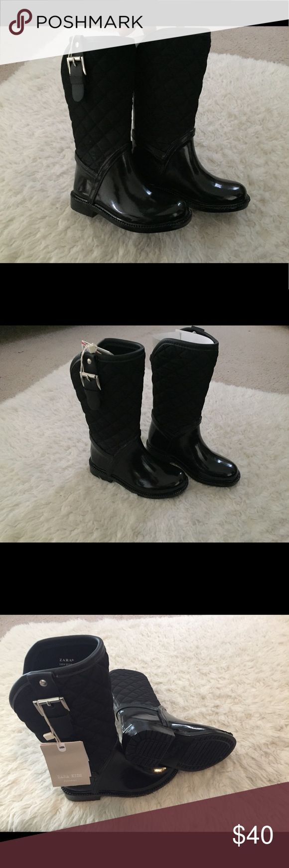 ZARA BOOTS FOR TODDLER GIRL ZARA RAINY BOOTS FOR TODDLER GIRL  BRAND NEW  WITH TAG  EUROPE SIZE 26/27 USA SIZE 9/ 9/5 Zara Shoes Rain & Snow Boots
