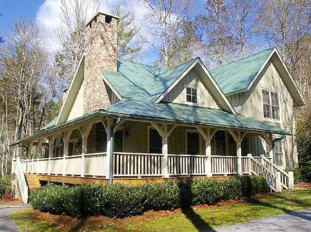 Country home with screen porch and fireplace!