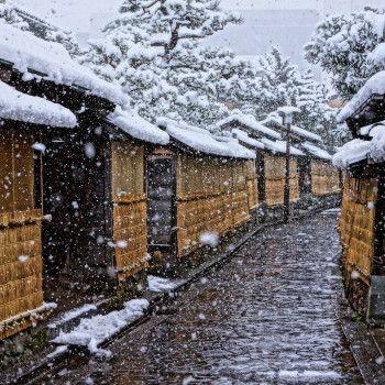 金沢 長町 武家屋敷跡 雪景色, photographed in ishikawa-ken, Japan KANAZAWA in snow