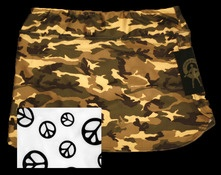 Camo Running Skirt with Peace Sign panties - LOVE! Birthday present please.