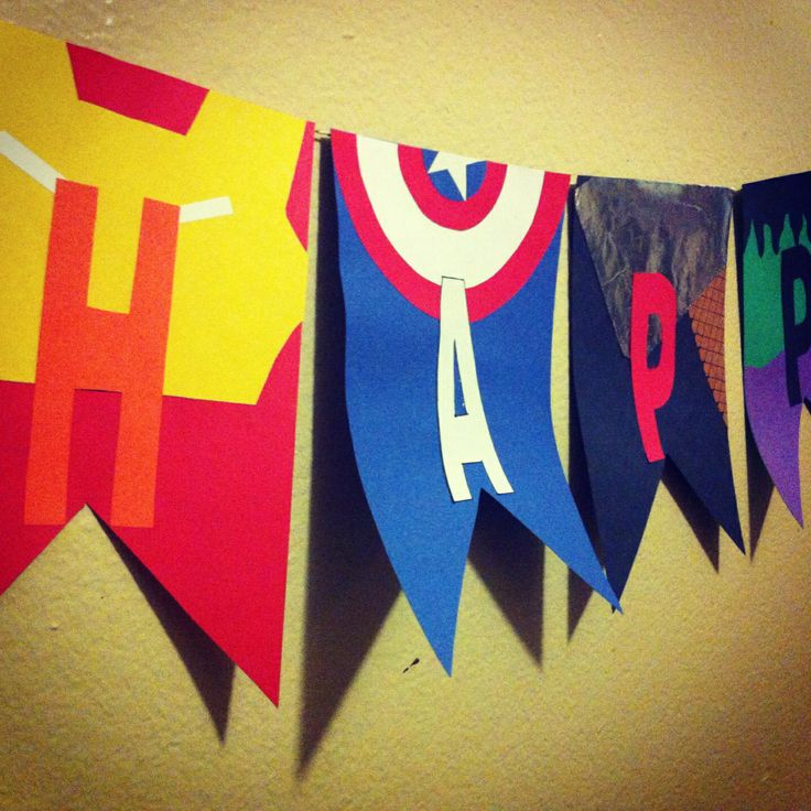 My sons avengers themed banner for his birthday party im making!!!! ❤️❤️