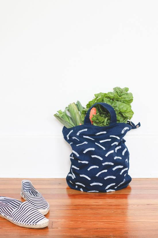 DIY Stamped Market Tote Bag