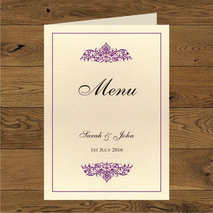 Olivia purple (paper vanilla cream metallic) - folded