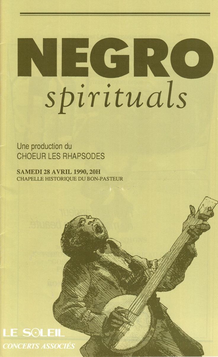 Avril 1990  Negro Spirituals  Les Rhapsodes