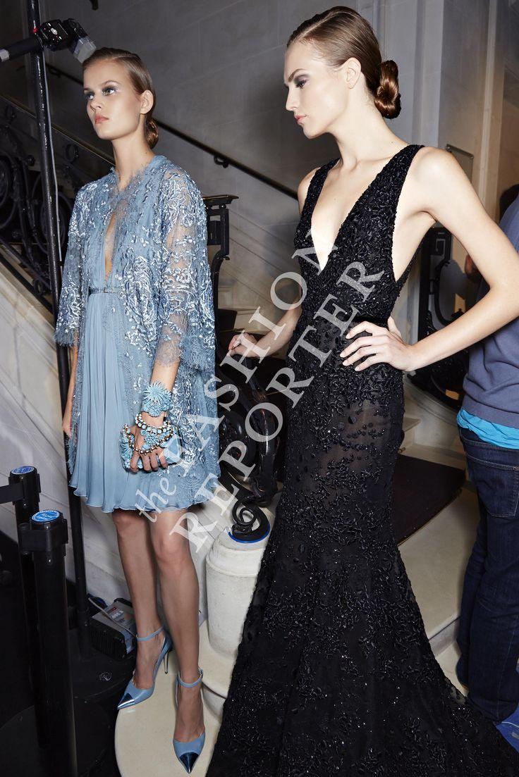 Agne Konciute at Elie Saab Backstage | Haute Couture FW14-15 | Ph. Antonello Trio