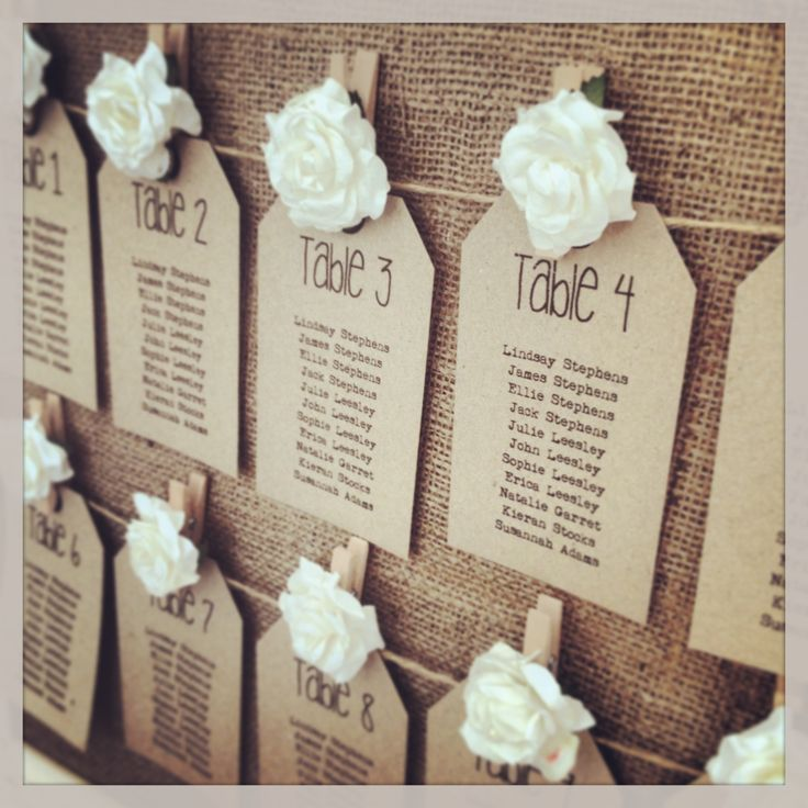 Vintage Wedding Table Plan Ideas: Rustic Table Plan Tags From Www.thevowweddingboutique.com