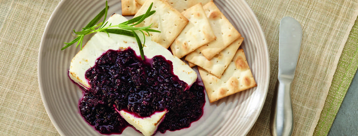 Roasted Feta Cheese With Fig-Thyme Compote Recipe — Dishmaps