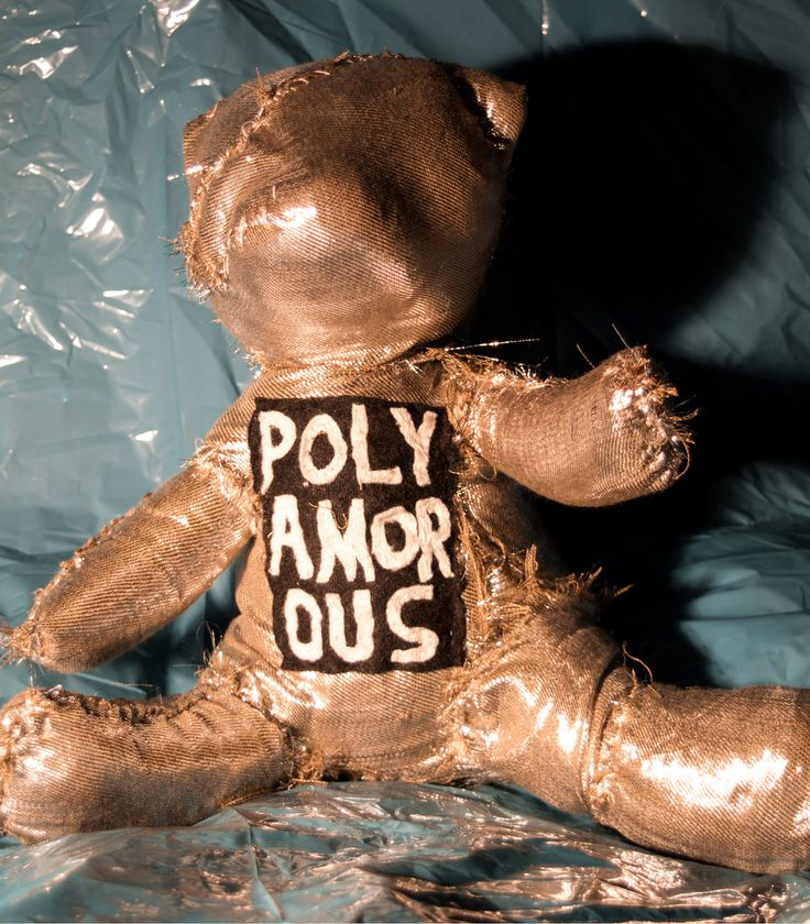 """The Polyamorous. From the textile sculpture series: """"The Labels"""". Henrik Haukeland 2017."""