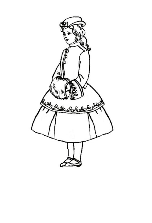 fashion coloring pages children in costume history 1860 70 victorian fashions for girls - Colouring In For Children