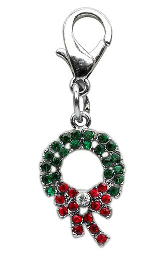 Miragepetproducts Holiday lobster claw charms / zipper pulls Wreath