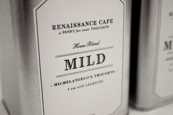Renaissance Cafe by Michelle Wang, via Behance