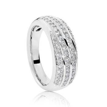 From a matching pendant and earring set this 18ct White Gold Diamond Ring is the perfect gift. for your loved one.