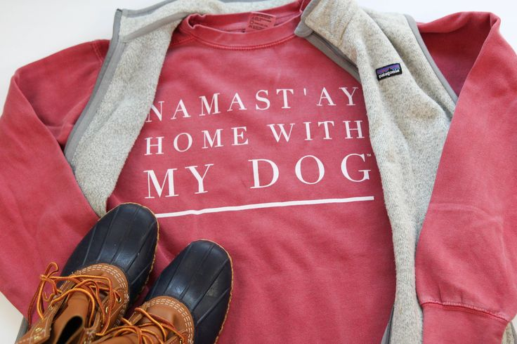 Namast'ay Home With My Dog, Comfort Colors Sweatshirt