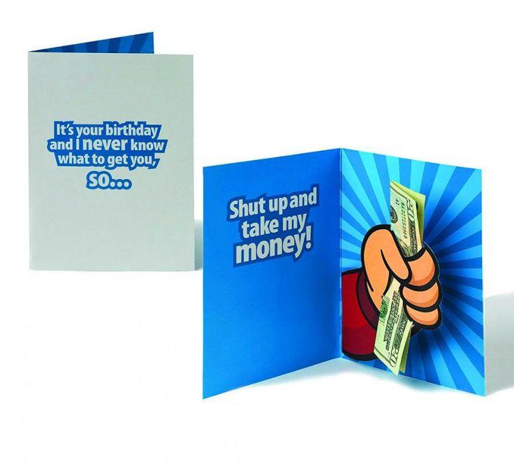 Take My Money Pop-Up Birthday Card