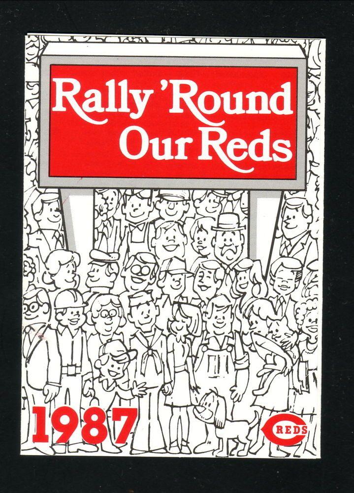 1987 Cincinnati Reds Schedule--Marathon #PocketSchedule