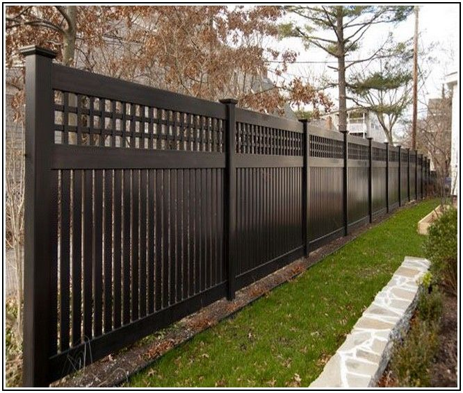 Black Vinyl Privacy Fencing Part 76