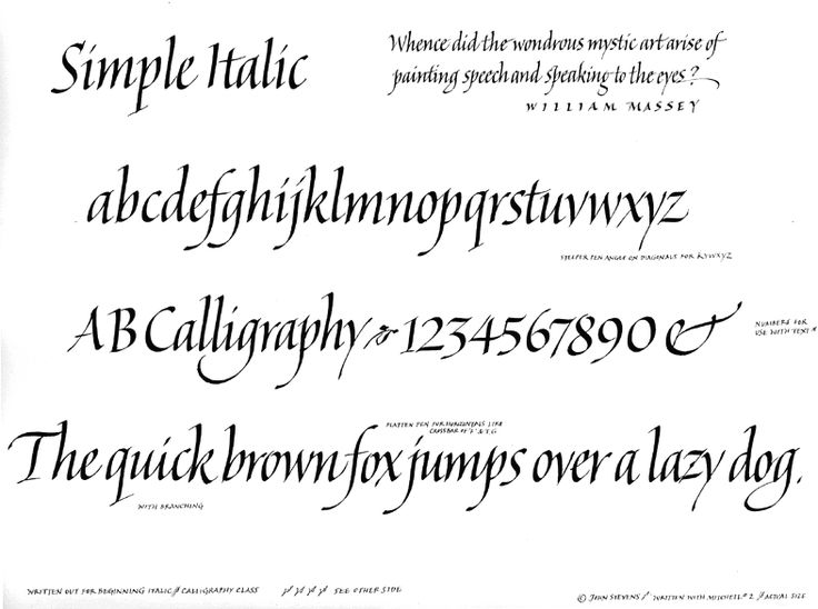 Getting started in calligraphy exemplars italic