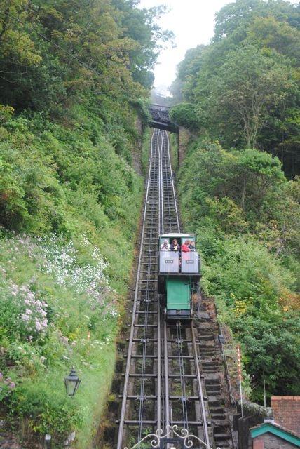 Amazing cliff railway in Lynton, Devon, UK, still going strong since 1890!