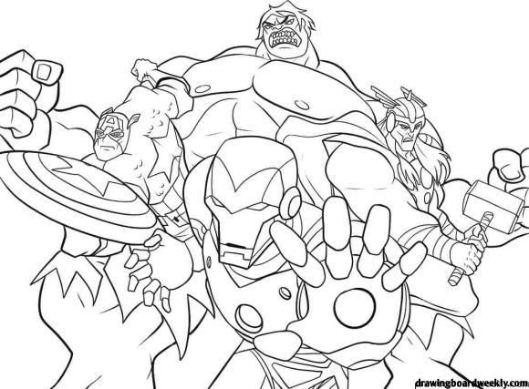 Coloring Page Avenger Hd Avengers Coloring Marvel Coloring Superhero Coloring