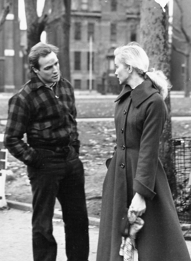 Marlon Brando and Eva Marie Saint in On the Waterfront, 1954.