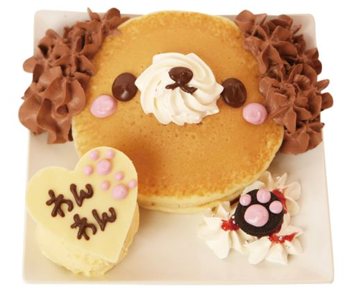 ruder-sebby: もふもふトイプー♥ケーキ @home cafe Kawaii puppy pancake