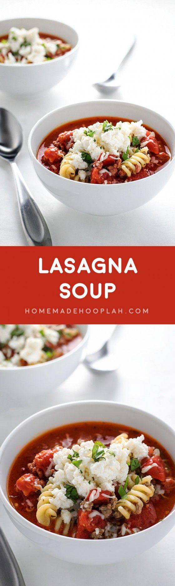 lasagna soup ground beef topping dinner tonight ricotta tomatoes mail ...