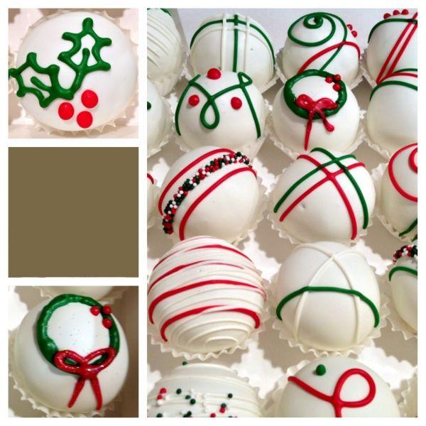 Christmas cake balls!