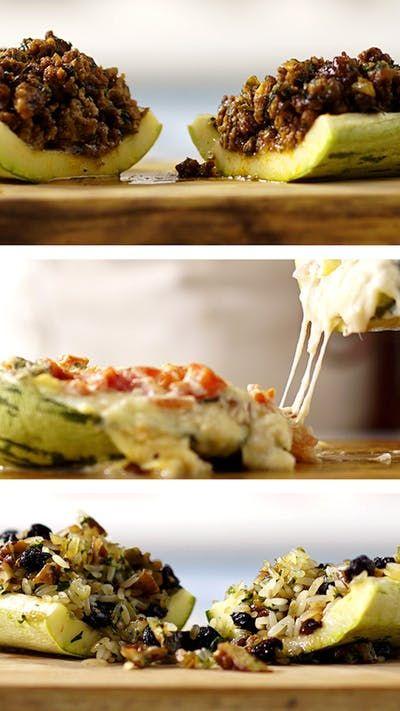 Três receitas de abobrinhas recheadas para você ter uma refeição prática e deliciosa!