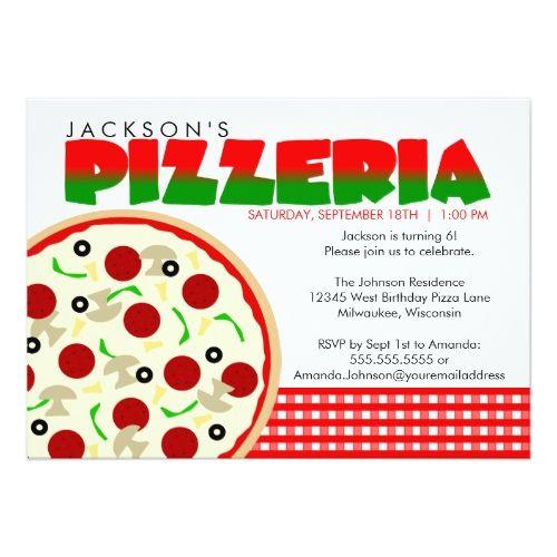 Pizzeria Pizza Party Invitation