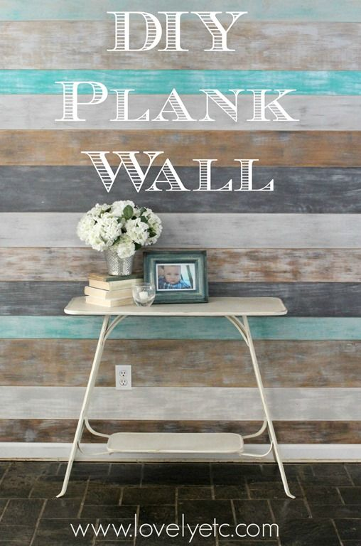 DIY Painted plank wall - a simple, inexpensive way to add some style to any room in your house.