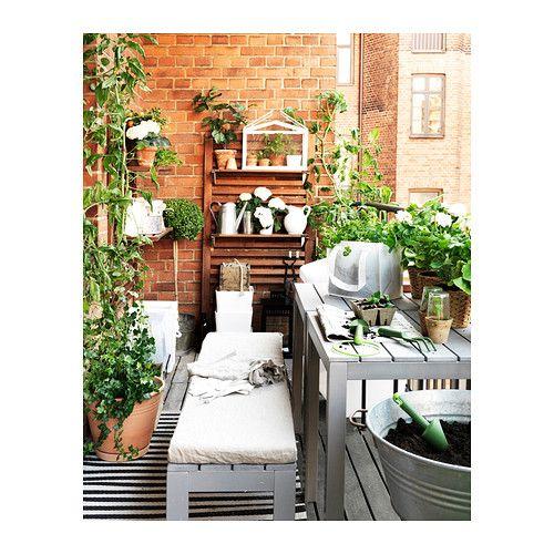 FALSTER Benk, utendørs, grå 130 cm grå