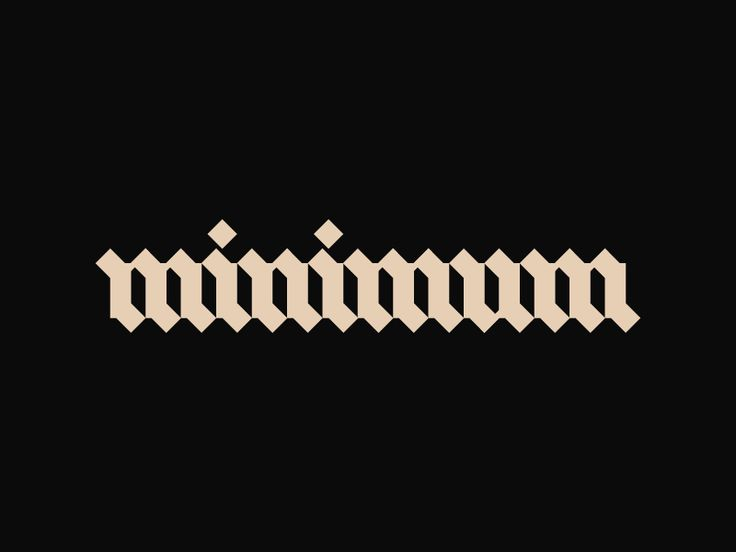 Minimum   Cool Typography Work