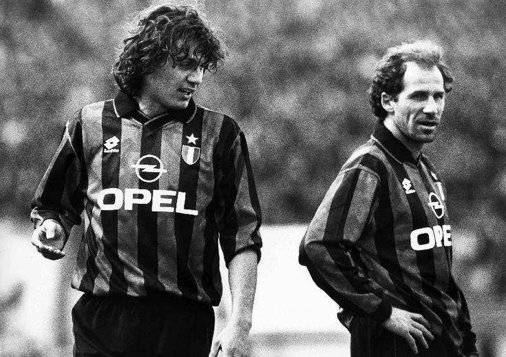 Paolo Maldini with Franco Baresi