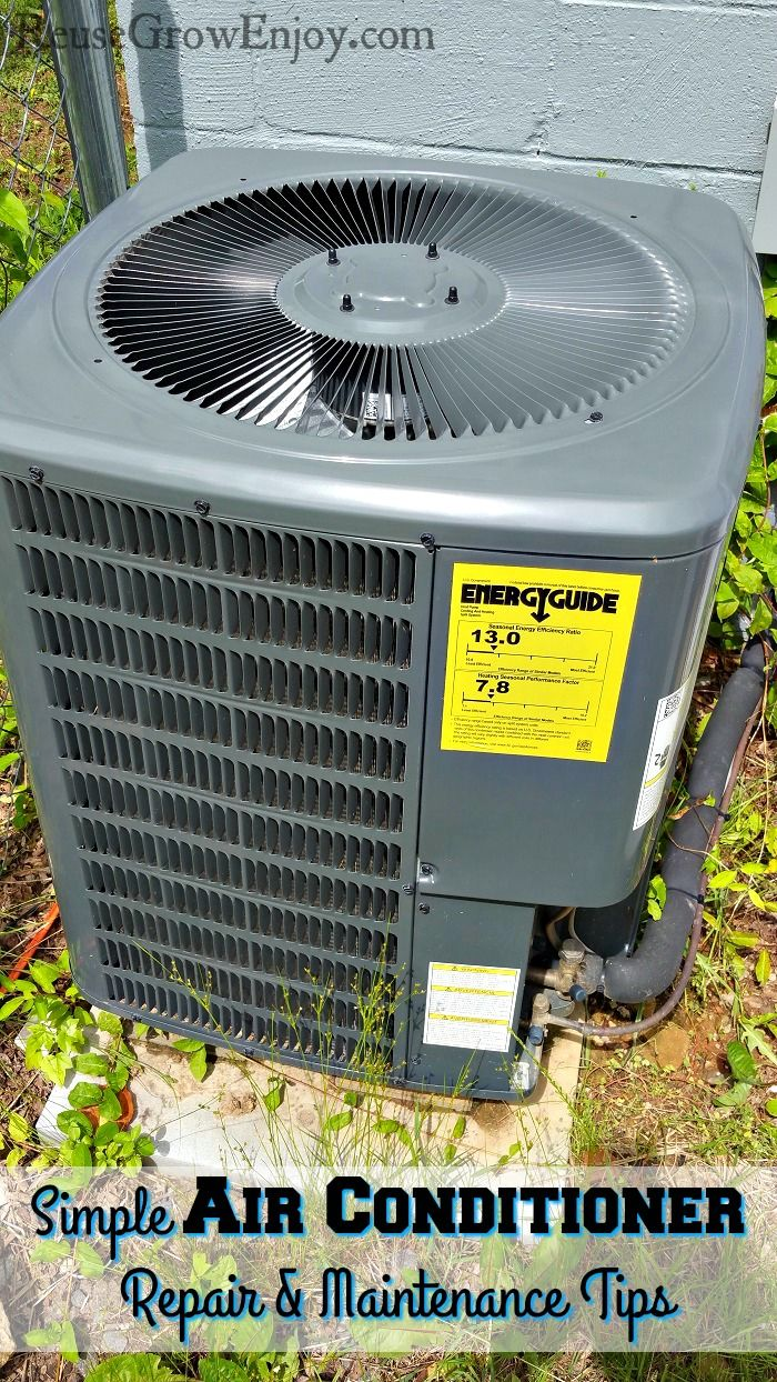 Have a AC unit that is not running so well? You may want to check out these Simple Air Conditioner Repair and Maintenance Tips! reusegrowenjoy.co...