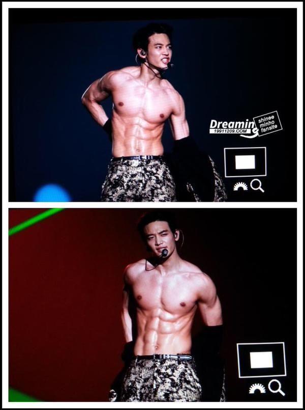 Choi Minho oppa de SHINee super sexy haceiendo fanservice
