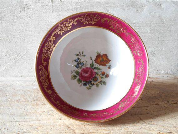 French Café au lait bowl Fine China Limoges by Birdycoconut