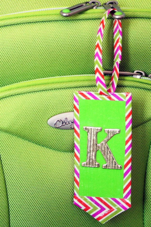 Luggage tags | Community Post: 10 Awesome Things You Can Make Out Of Duct Tape