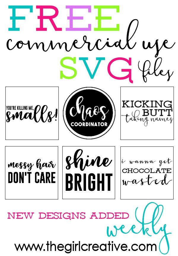 Download FREE Commercial Use SVG Files | Great for T-shirts ...