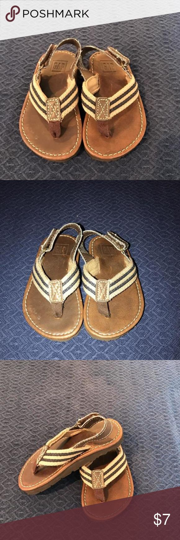 Gap Sandals - Brown with Navy Blue Gap Sandals - Brown with Navy Blue Gap Shoes
