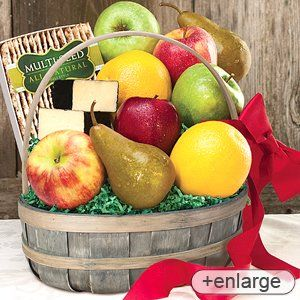 Voted #1 Best Food Gift Baskets by Connecticut Magazine Our Best Selling Fruit Basket! Delicious variety of FRESH fruits and cheese. During the summer months we will substitute the Cheddar with a Brie Cheese. Stew Leonard's - Just Right Fruit Basket