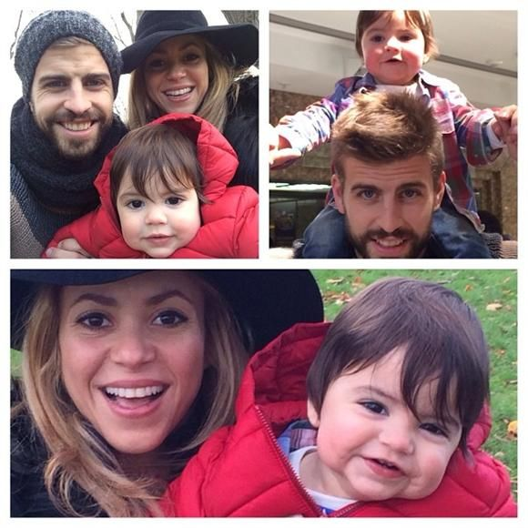 Seriously, is this the most photogenic family ever or what? Shakira took to Instagram to share this collage of herself with her partner, Gerard Pique, and their son, Milan, on Nov. 17, 2013.