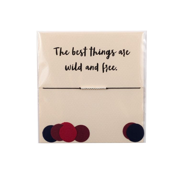 The Reminder Bracelet ~ The Best Things are Wild and Free (Silver) by Mai Lin Jewelry
