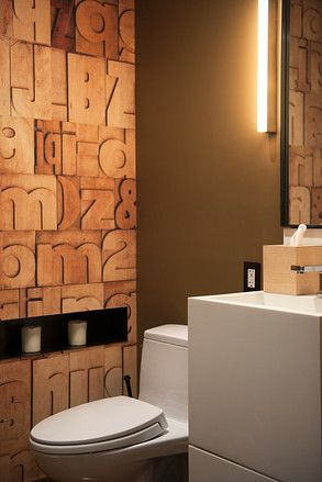 223 best images about work bathroom on pinterest toilets concrete walls and vanities - Cool wall treatments ...