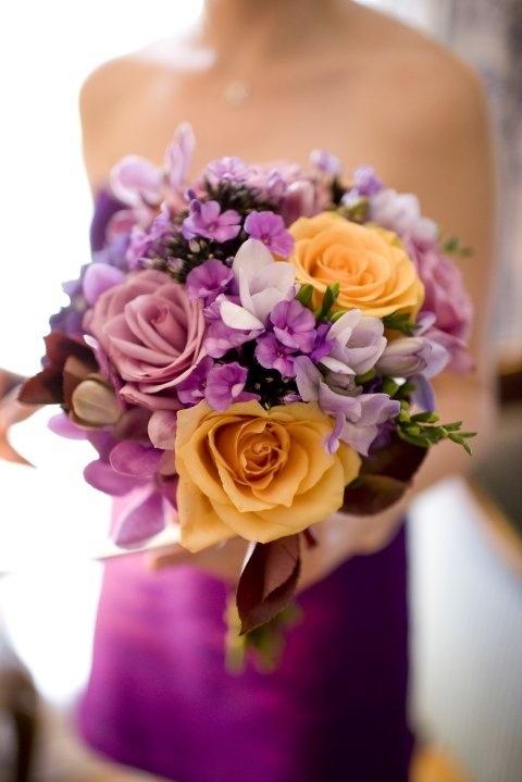 Roses , phlox, orchids bride's bouquet
