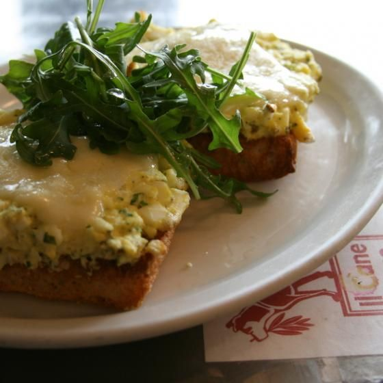 Il Cane Rosso's Warm Egg Salad Sandwich (7x7). This is one of my favorite sandwiches in SF and egg salad is a tricky one to pull off.