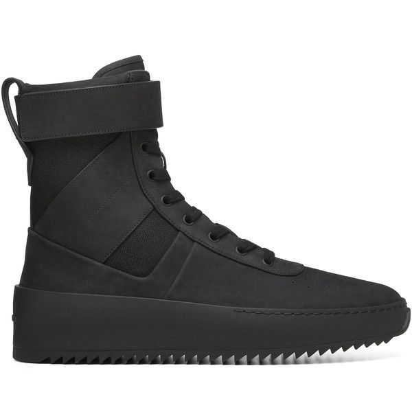 Fear of God Mens Military Boot ($1,680) ❤ liked on Polyvore featuring men's fashion, men's shoes, men's boots, mens shoes, mens boots, mens military boots, mens army boots and mens combat boots