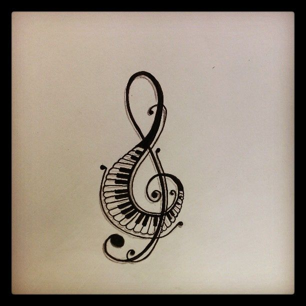 Piano Music Note Tattoo Design - ClipArt Best - ClipArt Best