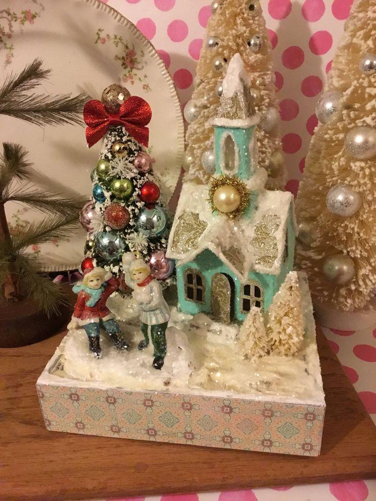 Best 25 Christmas Village Houses Ideas On Pinterest