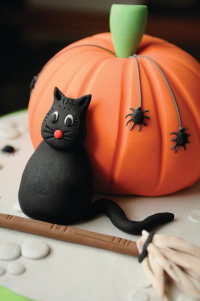This cake decorating project is perfect for Halloween parties. The cat and the pumpkin are so cute, and it's a free project! Taken from Ann Pickard's Cakes for Kids and yours to buy for the rest of the projects from the GMC website.