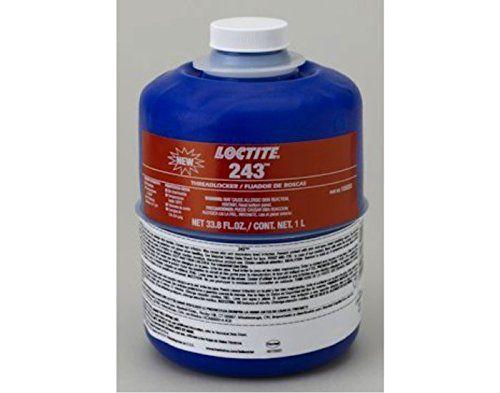 Loctite 243 Threadlocker – Blue Liquid 1 L Bottle – Shear Strength 1100 psi, Tensile Strength 230 psi [PRICE is per BOTTLE]  http://www.handtoolskit.com/loctite-243-threadlocker-blue-liquid-1-l-bottle-shear-strength-1100-psi-tensile-strength-230-psi-price-is-per-bottle/